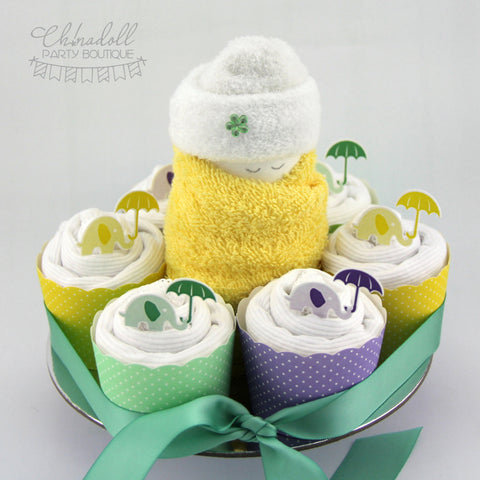 baby shower gift set | lemon lilac and lime