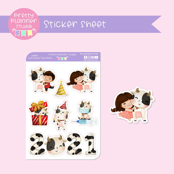 Lunar new year - Year of the ox | deco sticker sheet | LN-004/1