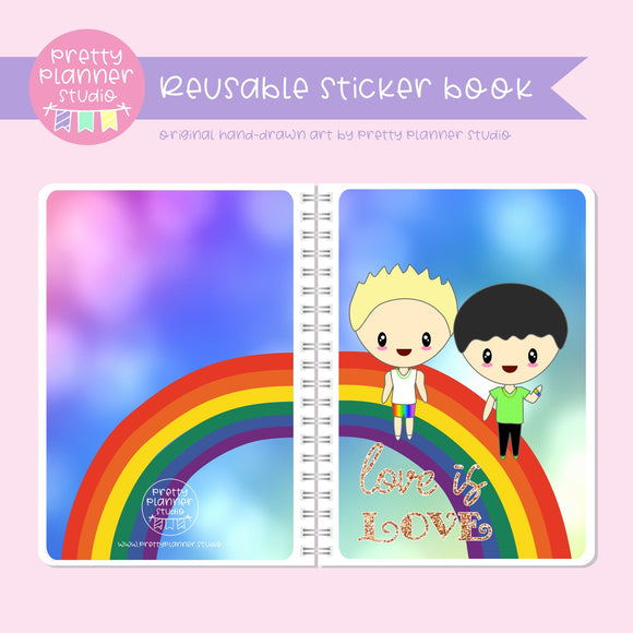 Love and rainbows - Mardi Gras boy friends | sticker book | LR-007/3
