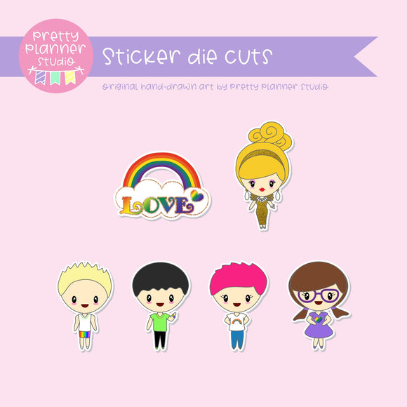 Love and rainbows | sticker diecuts | LR-005