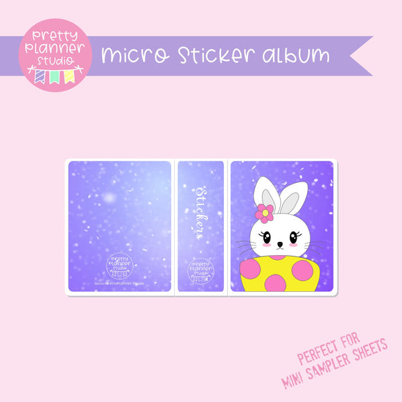 Hoppy Easter - Bunny | micro sticker album | HE-006/2