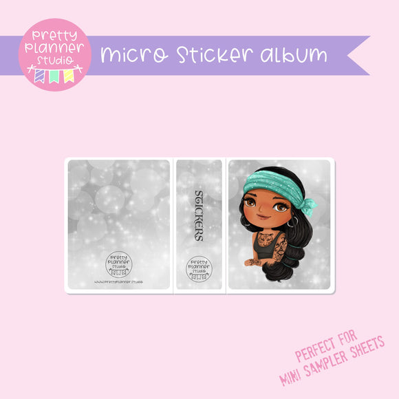 Inked - Jasmine | micro sticker album | IN-006/8