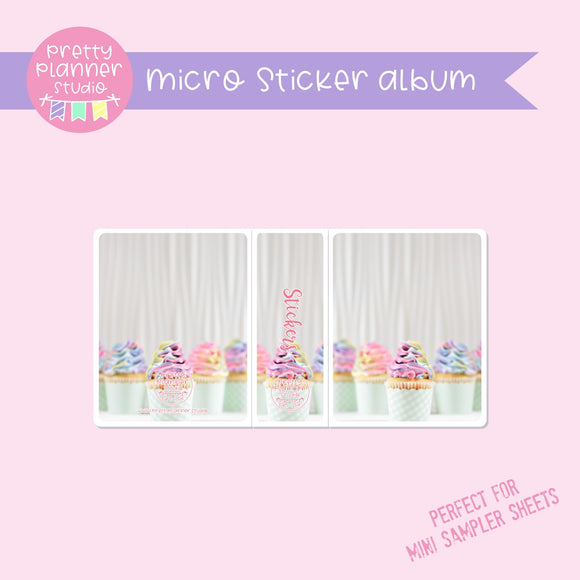 Photo - rainbow cupcakes | micro sticker album | PH-006/3