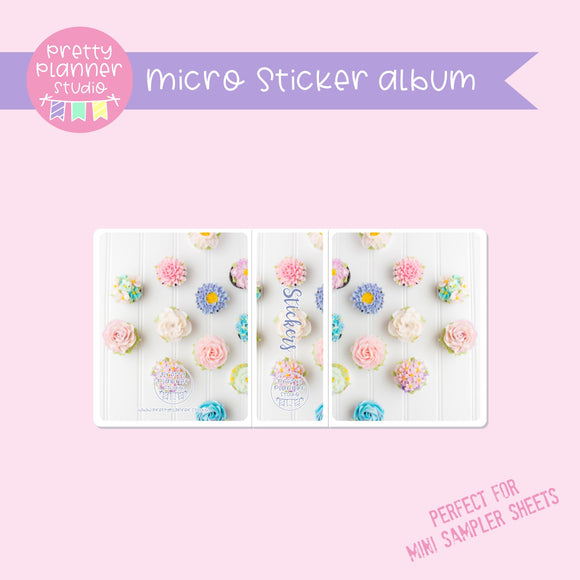 Photo - floral cupcakes | micro sticker album | PH-006/4