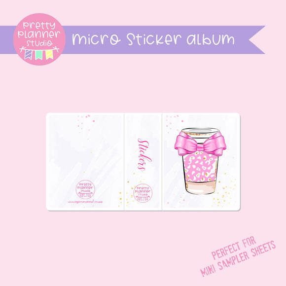 My pink boudoir - coffee | micro sticker album | PI-006/6
