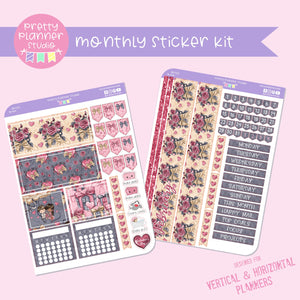 Be mine | monthly sticker kit | vertical or horizontal | BM-132