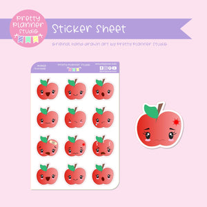 I'm so moody - apple | sticker sheet | IM-004/20