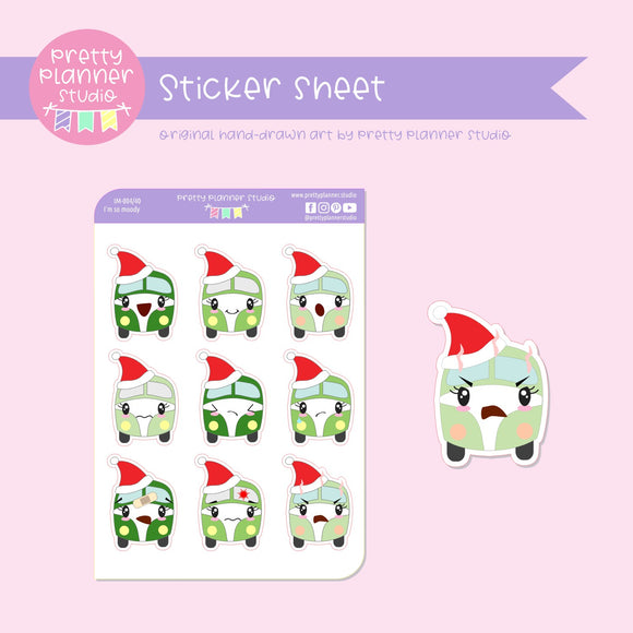 I'm so moody - Christmas kombi | sticker sheet | IM-004/40