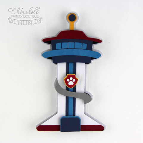 rescue pups lookout tower cake topper | READY TO SHIP | paw patrol adventure bay
