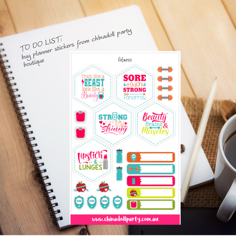 planner stickers | fitness