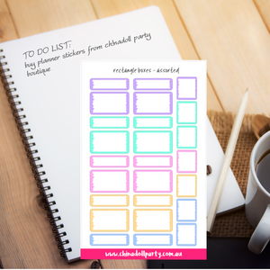 rectangle boxes | sticker sheet large | inkWELL press planner