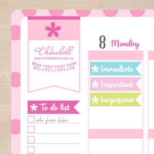 busy mermaid - priority headers | sticker sheet