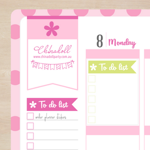 busy mermaid - to do list | full box | sticker sheet | ECLP vertical