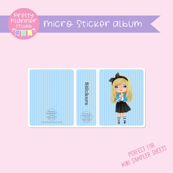 Meet me for coffee - Alice | micro sticker album | MC-006/2