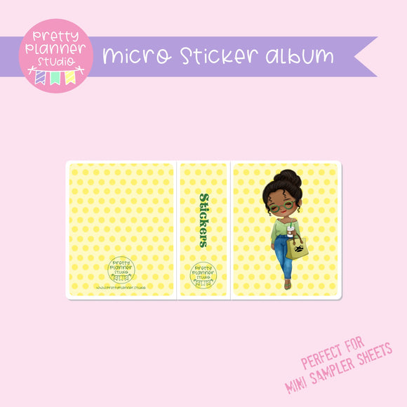 Meet me for coffee - Tiana | micro sticker album | MC-006/6