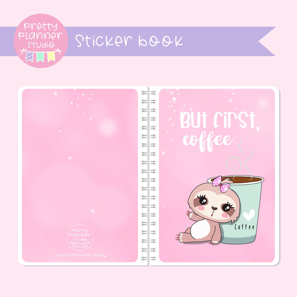 Sloth Life II - But first, coffee - Bronnie Sloth | sticker book | SL-007/3