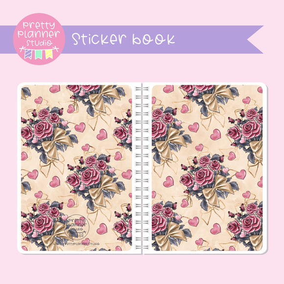 Be mine - Flowers | sticker book | BM-007/4