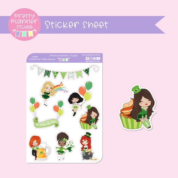 St Patrick's Day - Paddy's day party | deco sticker sheet | ST-004/1