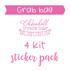 Grab bag - 4 kit sticker pack | ch!nadoll sticker shop