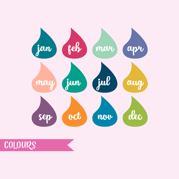 full page - Erin Condren - calendar | sticker sheet | FP-206