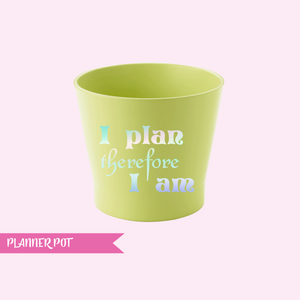 planner pen pot | lime