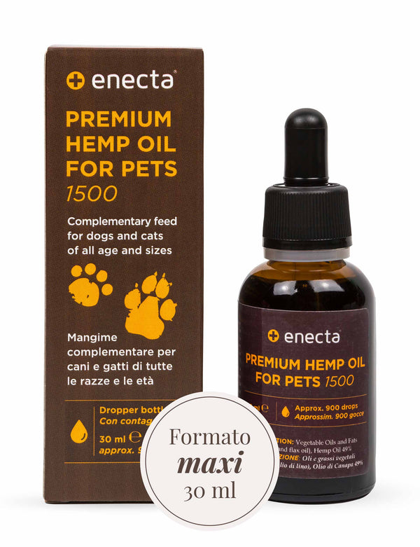 Premium Hemp Oil per animali - 1500 mg, 30 ml
