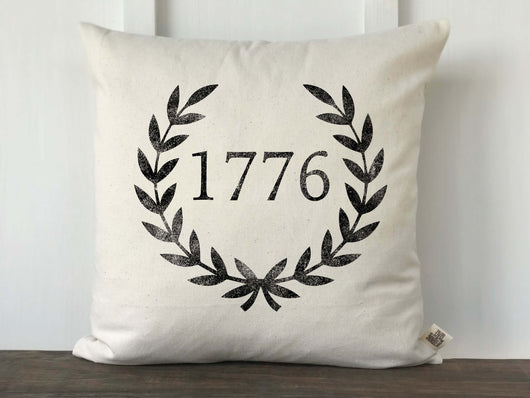 1776 Laurel Pillow Cover - Returning Grace Designs