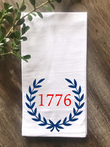 1776 Laurel Flour Sack Tea Towel - Returning Grace Designs