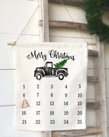 Merry Christmas Vintage Truck Countdown Calendar - Returning Grace Designs