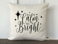 All Is Calm Christmas Pillow Cover - Returning Grace Designs