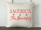 America The Beautiful Pillow Cover - Returning Grace Designs
