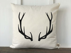 Farmhouse Antler Pillow Cover - Returning Grace Designs