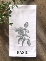 Basil Herb Floursack Towel - Returning Grace Designs