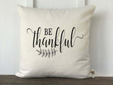 Be Thankful Pillow Cover - Returning Grace Designs