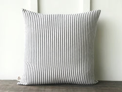 Black Ticking Pillow Cover - Returning Grace Designs