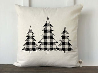 Buffalo Check 3 Christmas Trees Pillow Cover - Returning Grace Designs