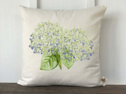 Hydrangea Watercolor Double Flower Pillow Cover - Returning Grace Designs