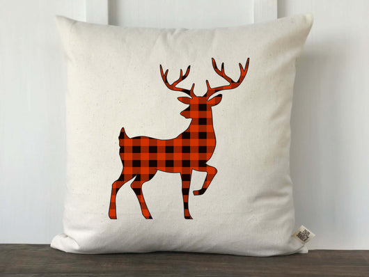 Buffalo Check Deer Silhouette Pillow Cover - Returning Grace Designs