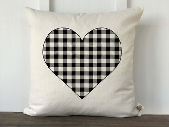 Buffalo Check Heart Pillow Cover - Returning Grace Designs