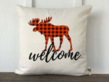 Buffalo Check Animal Silhouette Welcome Pillow Cover - Returning Grace Designs