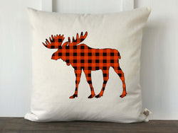 Buffalo Check Moose Silhouette Pillow Cover - Returning Grace Designs