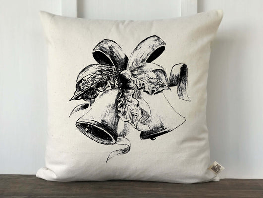 Christmas Bells Original Artwork Pillow Cover - Returning Grace Designs