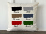 Block Font Personalized Baby Pillow Cover - Returning Grace Designs
