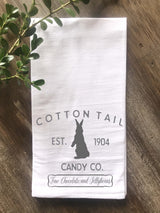 Cotton Tail Candy Company Flour Sack Tea Towel - Returning Grace Designs