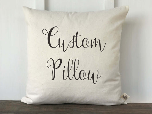 Custom Pillow Cover Design - Returning Grace Designs