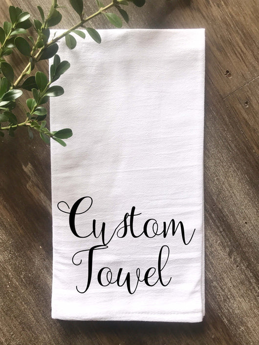 Custom Tea Towel Design, Recipe Towel - Returning Grace Designs