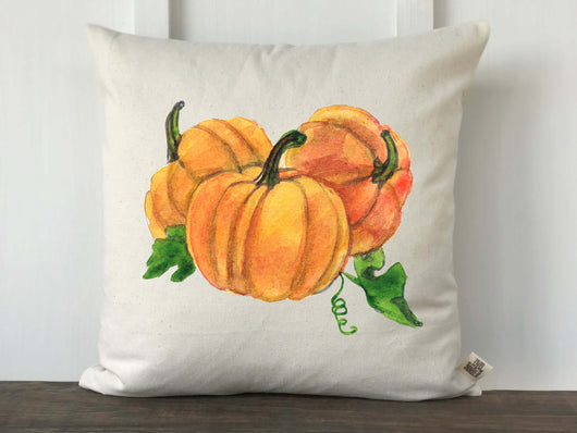 Watercolor Pumpkins Pillow Cover - Returning Grace Designs