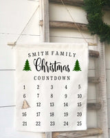 Personalized Family Christmas Countdown Calendar - Returning Grace Designs