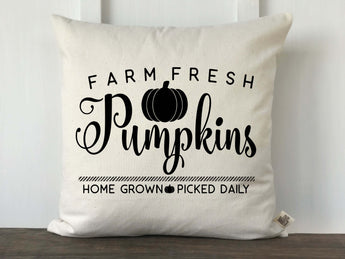 Farm Fresh Pumpkins Pillow Cover - Returning Grace Designs