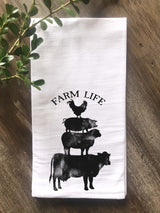 Farm Life Floursack Tea Towel - Returning Grace Designs